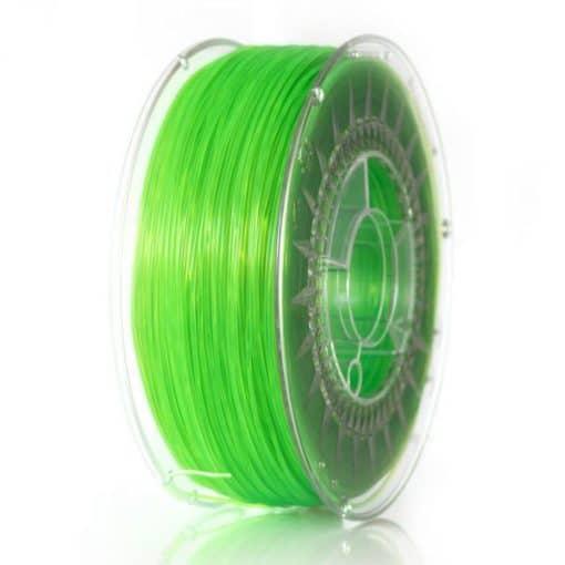 PLA Filament 1,75mm transparent grün